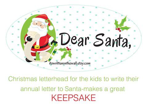 written   wall dear santa christmas letterhead