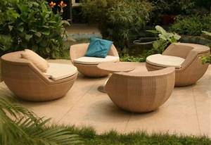 Salon De Jardin Rond : fauteuil boule salon de jardin ~ Dailycaller-alerts.com Idées de Décoration