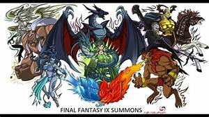 Final Fantasy IX Summons All Of Them In Order YouTube