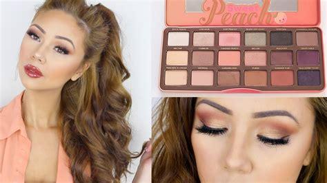 faced sweet peach palette  makeup tutorial