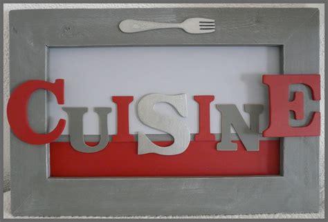 lettre cuisine en bois tableau l 39 atelier de viline