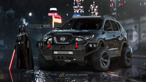 nissan rogue star wars edition lifted nissan rogue one star wars edition by