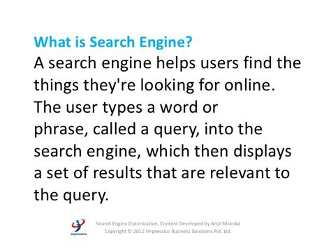 Search Engine Optimization Basics by On Search Engine Optimization Basics