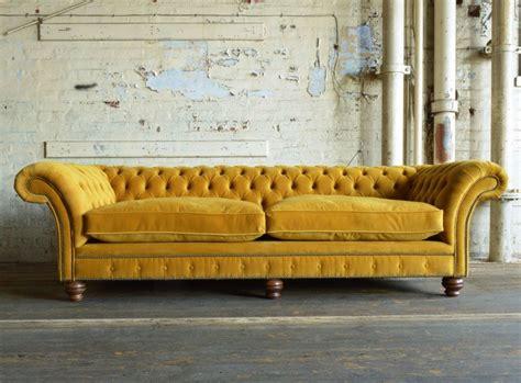mustard yellow velvet sofa modern handmade mustard rutland velvet chesterfield sofa