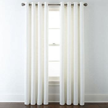 White Drapery by White Curtains Drapes White Window Treatments Jcpenney