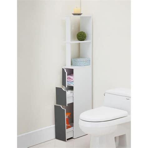 Top Colonne De Toilette L 15 Cm  Blanc Et Gris Achat
