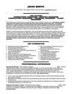 manufacturing plant manager resume exles 23 best trades resume templates sles images on