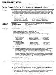 resume software developer skills software engineer resume exle skills resume sles