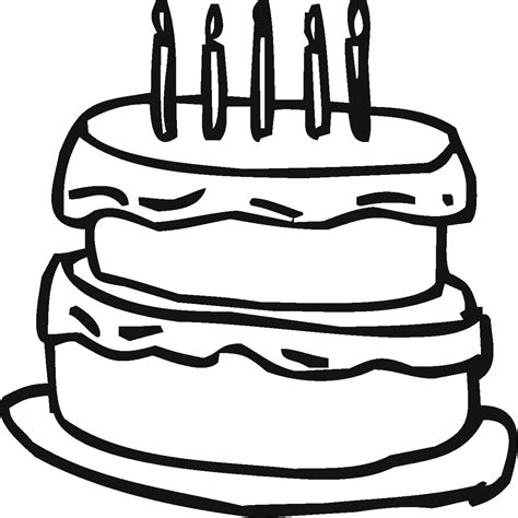 HD wallpapers coloring page of cake