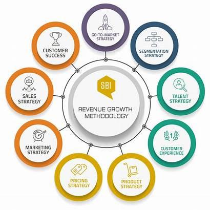 Growth Revenue Methodology Sales Marketing Market Steps