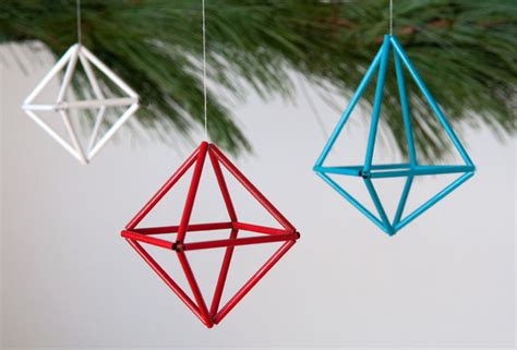 how to make diy colorful geometric ornaments 187 curbly