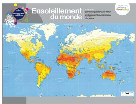 Carte Ensoleillement by Energies En Questions