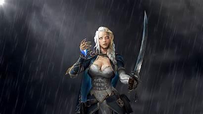 Jaina Proudmoore Warcraft Rain Wallpapers Wallhere Desktop