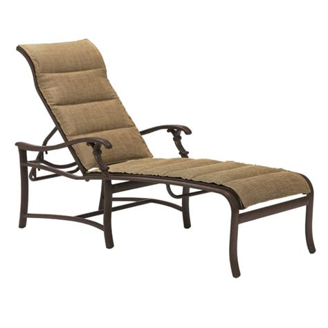 ravello padded sling outdoor chaise lounge by tropitone