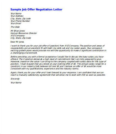 letter of negotiation of salary how to write a job salary negotiation letter cover