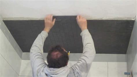 how to install mosaic tile on a ceiling