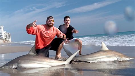 shark fishing with dude youtube