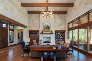 custom home interior design hill country custom home rustic living room by hearn interior design