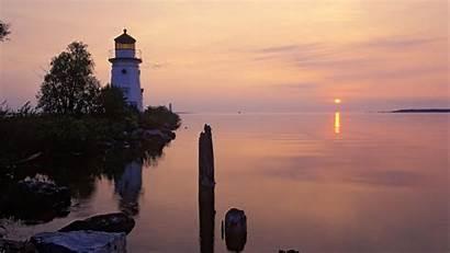 Michigan Desktop Lighthouses Wallpapers Backgrounds Sunrise Wallpapersafari