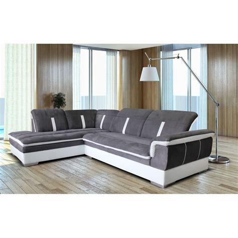 canape d angle gris et blanc pas cher canap 233 d angle gris et blanc mundu fr