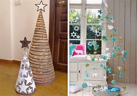 ideas originales   arbol de navidad hecho en casa