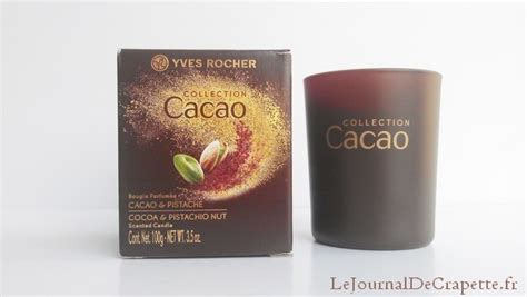 bougie yves rocher bougie cacao pistache d yves rocher