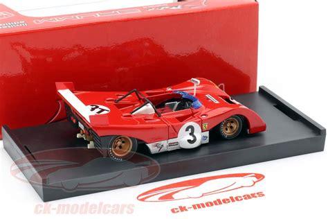 S1104b ignazio giunti (it) #24. Brumm 1:43 Ferrari 312PB #3T Winner Targa Florio 1972 Testcar Merzario, Munari R261BT model car ...