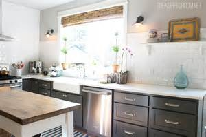 Kitchen Cabinets with Grey