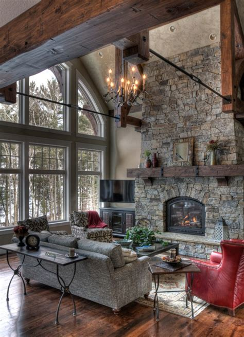 15 Warm & Cozy Rustic Living Room Designs For A Cozy