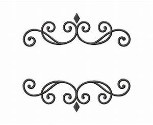 elegant monogram font frame machine embroidery design With initials design