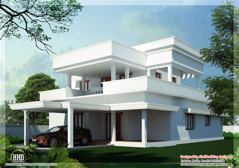 home design architecture flat roof home design kerala home design architecture house plans