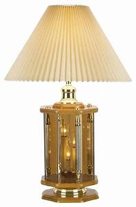 traditional oak and etched glass retro night light table With glass table lamp and night light