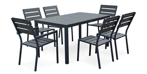 salon de jardin table et chaises table et chaise de jardin en aluminium