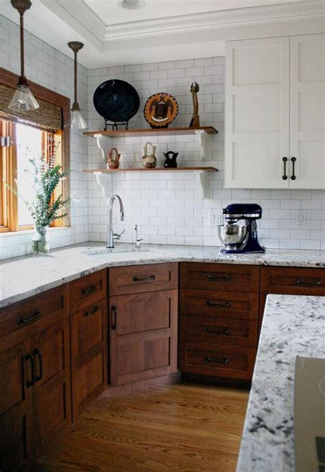 cabinets subway tiles and woods on pinterest