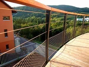 Garde Corps De Terrasse En Bois Metal Concept Escalier