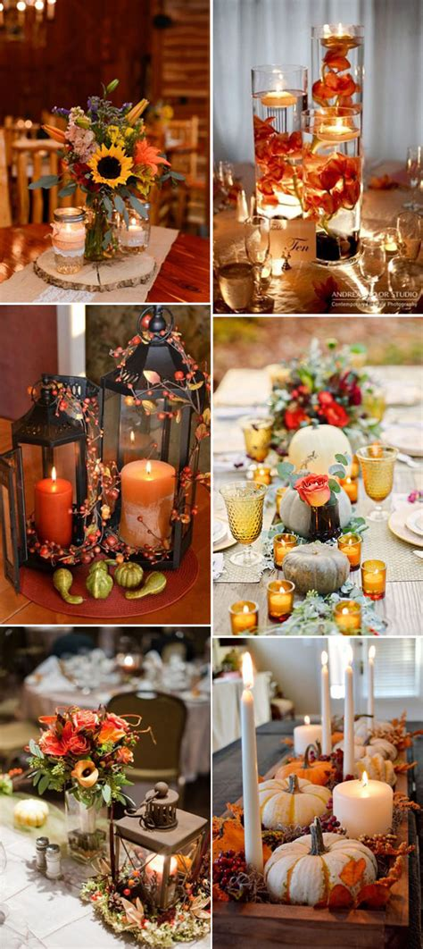 inspirational fall autumn wedding centerpieces ideas