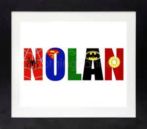 superhero name superhero wall art boy wall art girl