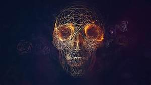Geometric Lines Skull Wallpaper