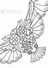 Gears Aurorawings Mitzi Pyrography sketch template