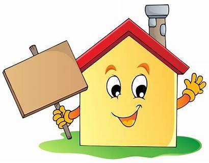 Cartoon Clipart Housing Happy Homeless Homes Host