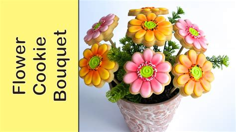 cookie bouquets cookie bouquet gerbera flower cookies how to make