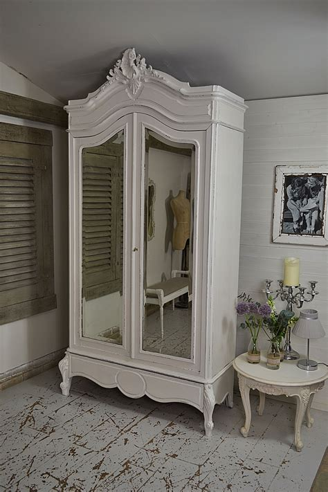 shabby chic mirrored furniture this stunning shabby chic french armoire has been kept clean and simple painted in farrow