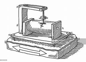 Seismograph Earthquake Detection Drawing Vector Art ...