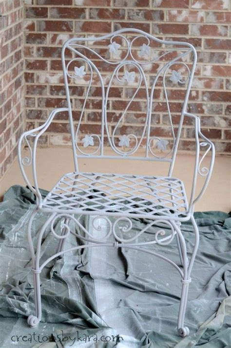 how to transform metal patio furniture metal chairs and chair makeover