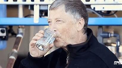 Bill Water Gates Glass Drinking Poop Fill