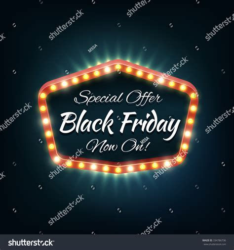 black friday light frame retro billboard sale and
