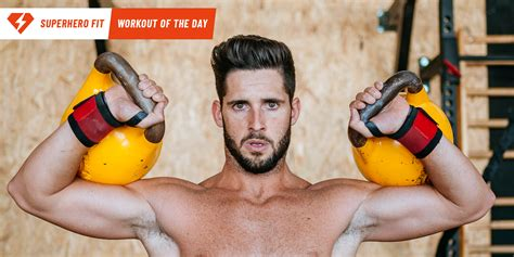 kettlebell press workout push superhero double move spartacus health kb