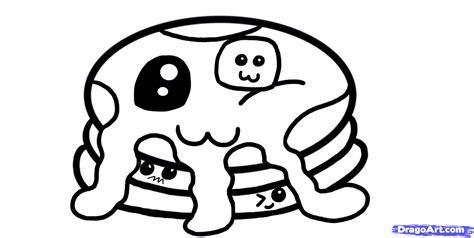 kawaii coloring pages   draw kawaii pancakes step