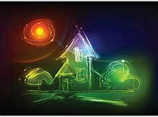Hand Drawing neon light art elements vector 03 free download