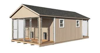 Barn Shed Plans 8x10 by 4 Dog Kennels Large Outdoor Dog Kennel Horizon Structures